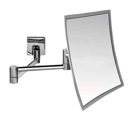 specchio ingrand 3x da muro 20x20 cm regol cromo