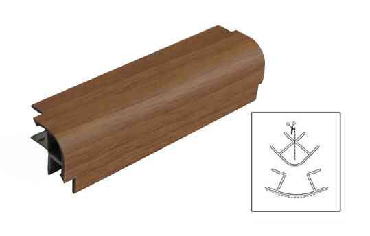 MULTIANGOLO H.100mm COLOR NOCE CHIARO (CASTIGLIA) - - VOLPATO | Deodato