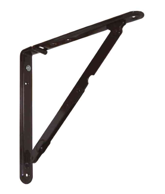 Reggimensola pieghevole 200x200 mm acciaio marrone for Reggimensola pieghevole
