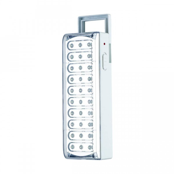 LAMPADA EMERGENZA 30 LED RICARICABILE CON INDICATORE ARMOUR AND DANFORTH TMX1410